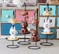 Enfeites criativos Coréia Do Presente do Urso de Brown Ferro Lâmpada Nightlight Desktop Grade Loja Para A Compra de Presentes do Estudante