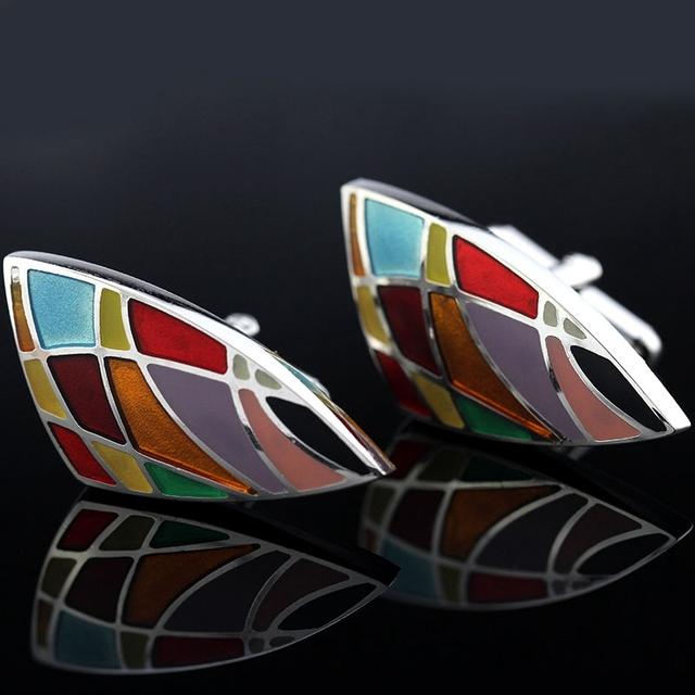 Memolissa Luxury Shirt Day Pattern Cufflink Mens Cuff Links High Jewelry