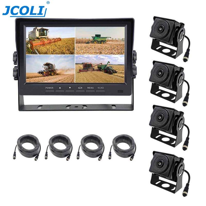 JCOLI Car-Monitor-Recorder 4-Rearview-Cameras 12v-24v-Vehicle 360-Degree 1080P AHD TFT
