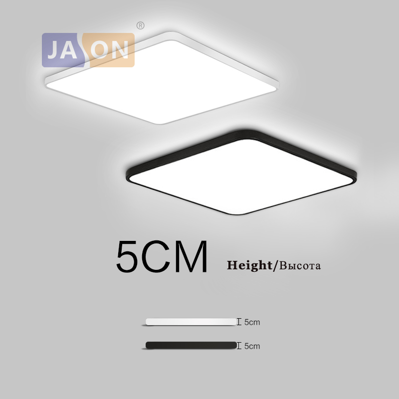 Lámpara LED moderna de acrílico de aleación cuadrada de 5 cm Superfina Lámpara LED.LED Light.Ceiling Lights.LED Ceiling Light.Ceiling Lámpara para dormitorio Foyer