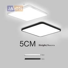 LED moderne en alliage acrylique carré 5 cm Super mince lampe à LED. lumière LED. plafonniers. LED plafonnier. plafonnier pour Foyer chambre