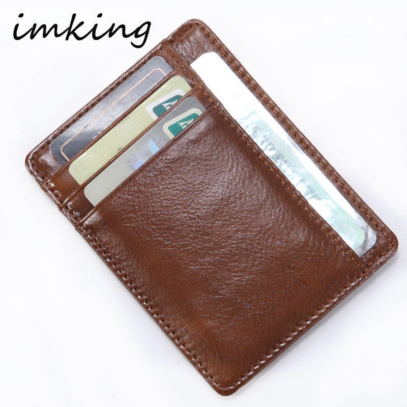IMKING Hot Sale Vintage Slim Mini Wallet Artificial Leather Credit Card Holder Case ID Pocket Purses Travel Wallet