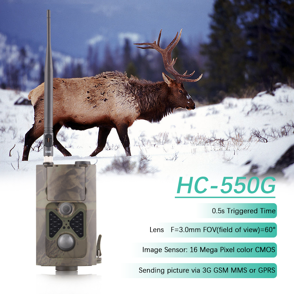 HC550G WCDMA 3G Hunting Trail Camera Long Range Infrared Night Invisible Photo-traps Outdoor Hunting Camera MMS GPRS Camera Trap trail hunting camera 3g wcdma photo trap mms gprs 16mp hd wildlife video game camera with night vision ir leds 3g hunting camera