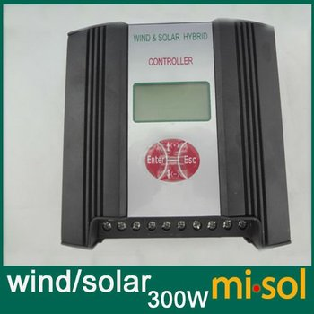 Hybrid Wind Solar Charge Controller 300W Regulator, 12V, wind charge controller
