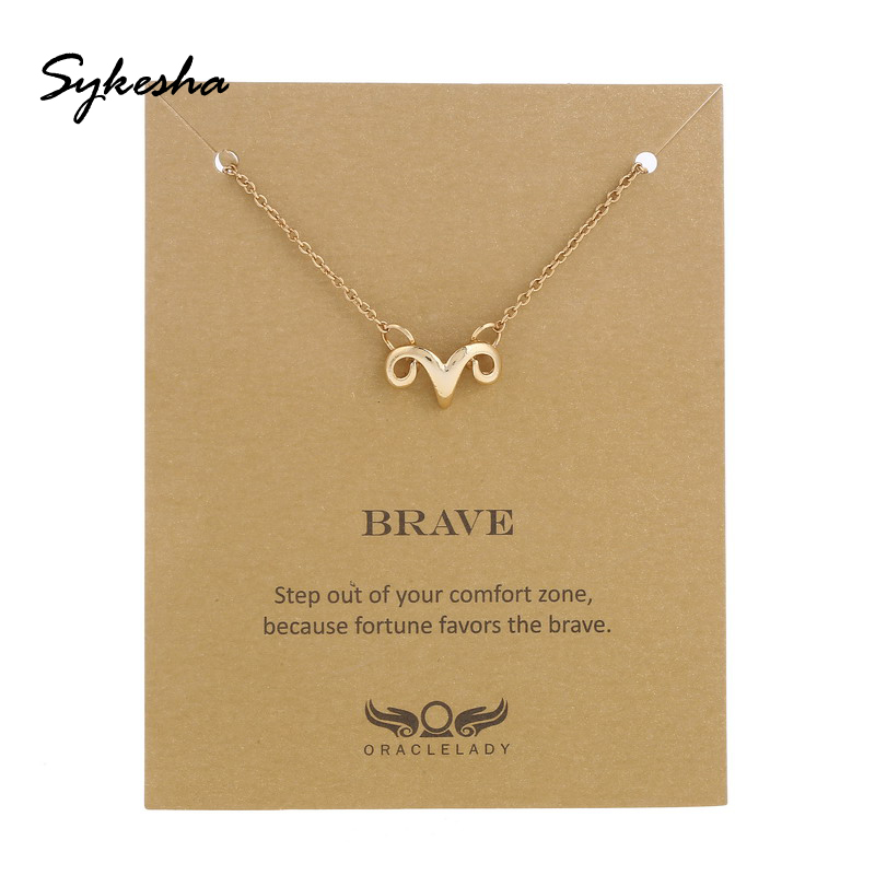 2019 Customize Ram Strong Brave Necklace Aries Necklace Zodi