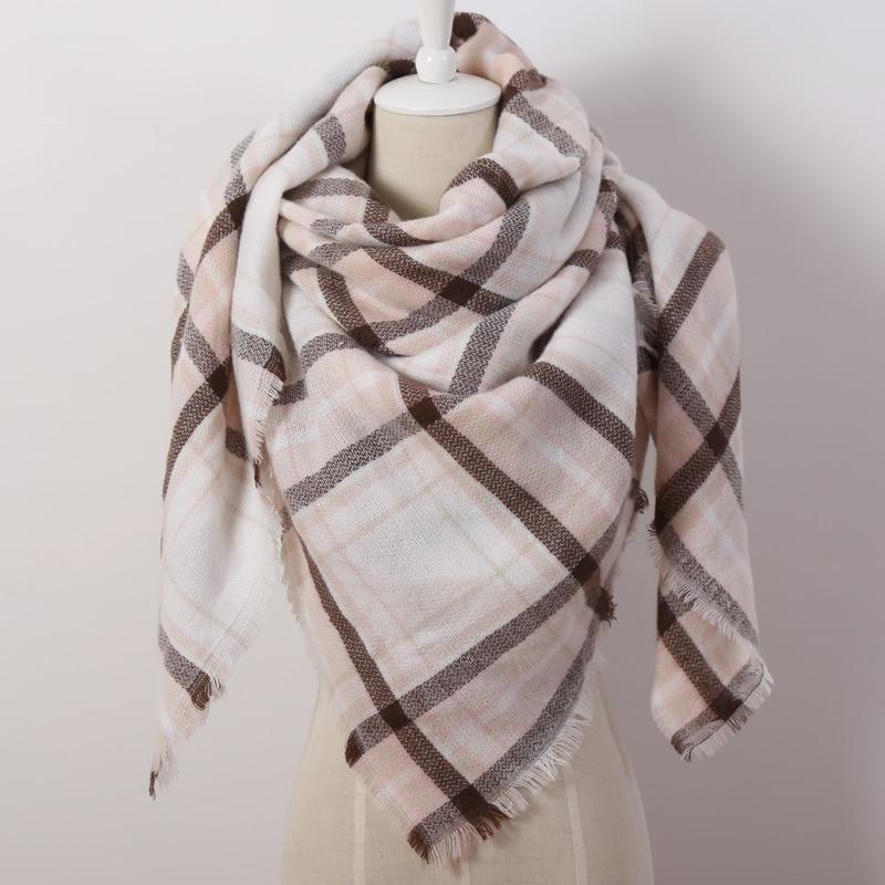 Za Fashion Schal für Frauen Hochwertige Decken Weiches Kaschmir Warm - Bekleidungszubehör