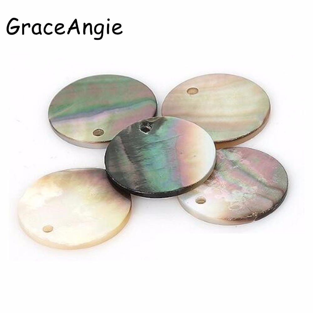 Graceangie Earrings Shell-Beads Beading Charms Crafts Handmade DIY 10pcs Jewelry-Accessories