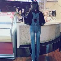 Princess sweet lolita Bobon21 girls' fashion denim natural long legs rompers restore ancient ways hollow out love style B1454