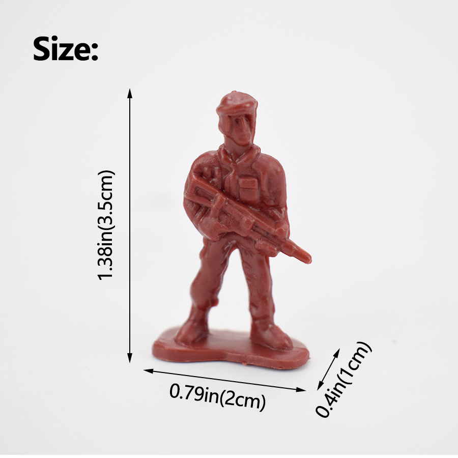 100pcs/Pack Military Plastic Action Figure Soldiers Toy Army Action Figures Model 12 Poses Collection Educational Toys for Boys