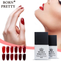 Born Pretty 1 Bottle Soak Off UV Gel Nail Polish 10ml Gel Varnishes Nail Glue Gel Manicure Gel Lacquer Red Series 12 Colors
