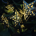 5 M 20 Led Estrela de Ferro luz Da Corda solar powered Luzes De Fadas Christma Festa de Casamento Casa Decoração Da Lâmpada Branca, quente whity
