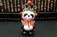 Souvenirs Characteristic Handicrafts Cute Ceramics China Sichuan Opera Panda Ornament Home Figurines MiniMiniatures Decor Crafts