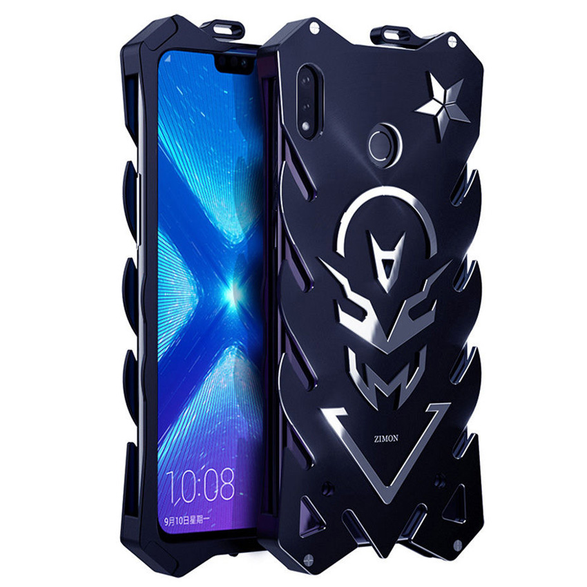 Case for Huawei Honor 8X Zimon Luxury New Thor Heavy Duty Armor Metal Aluminum Phone Case for Huawei Honor 8x Max