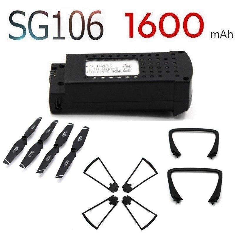 3,7 V 1600 mAh Lipo batería para SG106 helicóptero RC aviones no tripulados Quadcopter de piezas de repuesto para batería recargable de 3,7 v SG-106 1 piezas