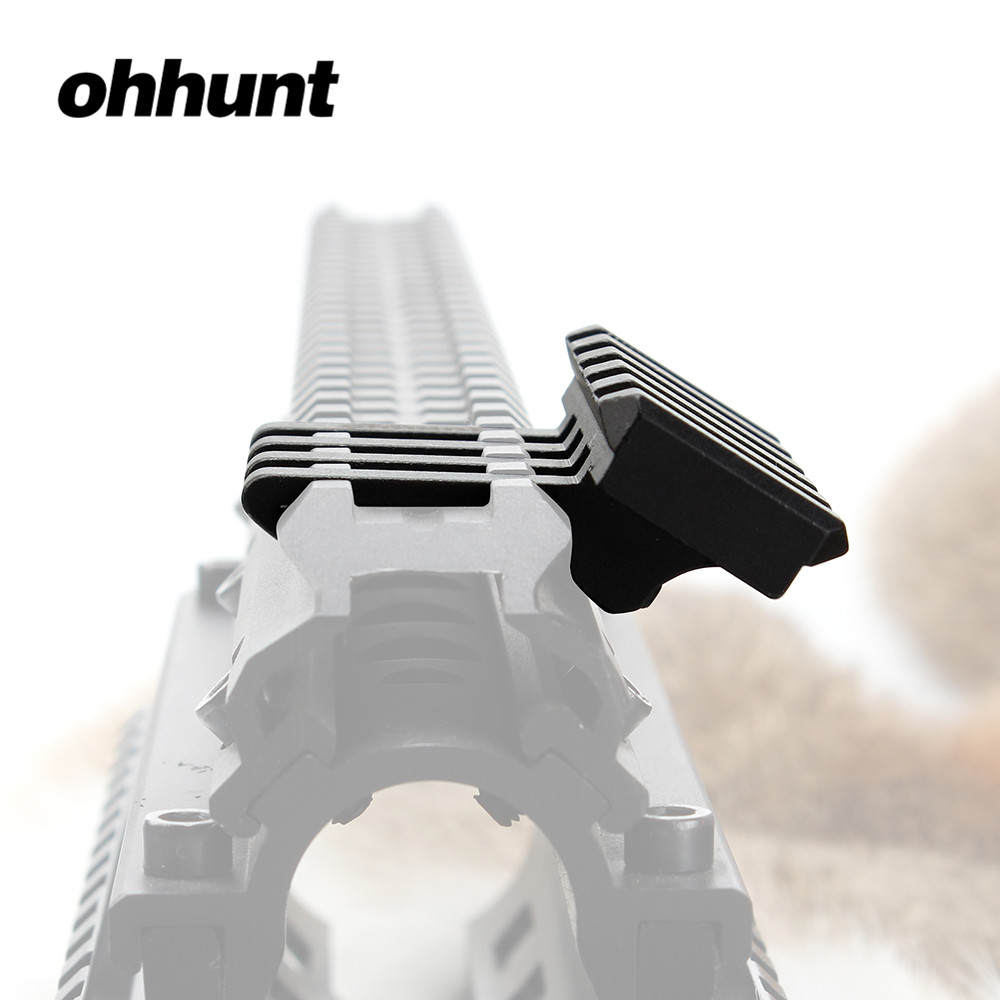 Ohhunt Tactical 5 Slots 30 Degrees Picatinny Weaver Angle Offset Adapter Rail Mount Base For AR 15 Rifle Red Dot Flashlights