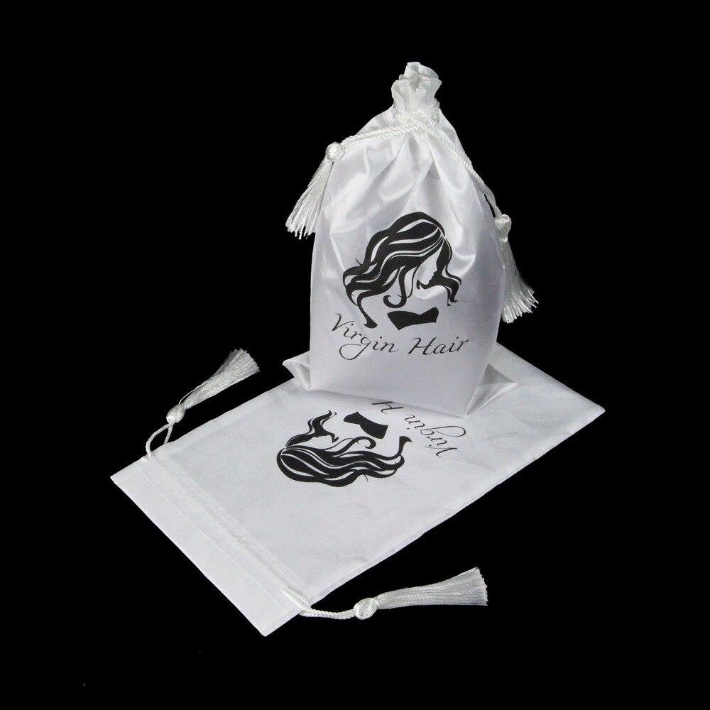 5 stuks witte maagd haar verpakking zak met koord, haarverlenging - Home opslag en organisatie - Foto 3