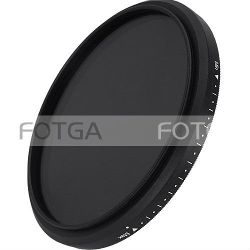 Slim Fader Variable Adjustable Variable ND filter ND2 to ND400 43~86mm 52 58 67 72 77 mm
