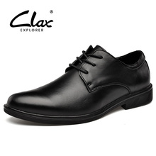 CLAX Mens Shoes Genuine Leather 2019 Spring Autumn Man Oxfords Dress Shoe Male Formal Wedding Footwear Soft