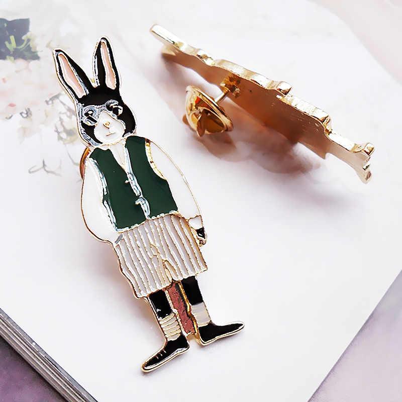 Женские высококачественные 1 шт. новые модные ювелирные изделия, унисекс броши в виде животных, уникальные Изящные мужские броши в виде кота, популярного кролика, лисы из мультфильма