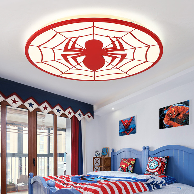 Spider man Modern led ceiling chandelier lights for bedroom Children ...