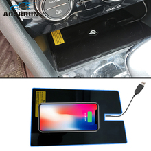 Special on-board QI wireless phone charging Pad Panel Car Accessories For Volkswagen VW Tiguan MK2 2017 2018
