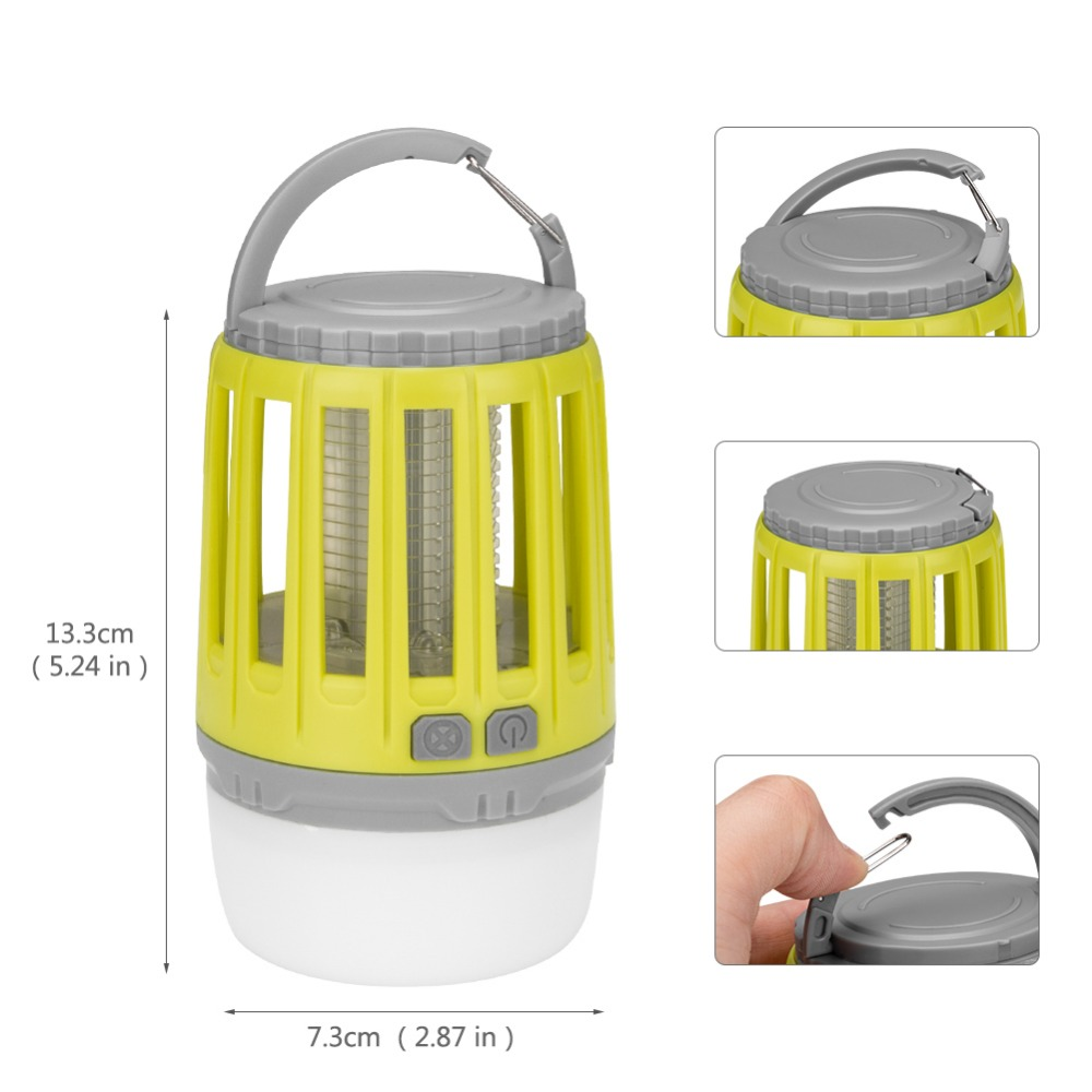 Multifunctional USB Charging Mosquito Killer Lamp Mute LED Light Camping Lantern Bug Zapper Rechargeable Insect Zapper Tent LED in Mosquito Killer Lamps from Lights Lighting