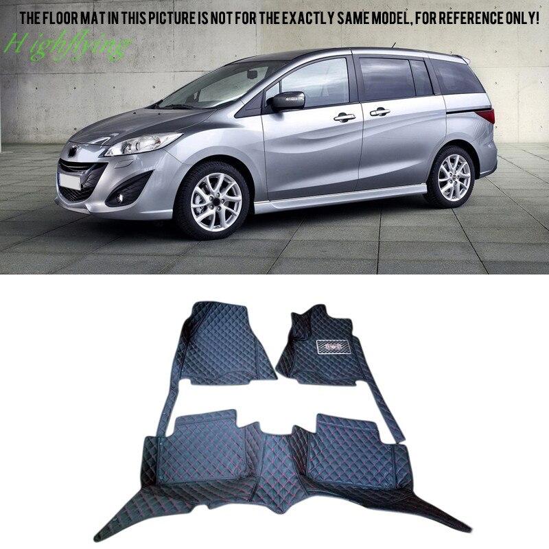 Inner Floor Mats Carpets Foot Pad Covers For Mazda 5 (5 Seat/7 Seat ) 2010 2011 2012 2013 2014 2015 inner floor mats