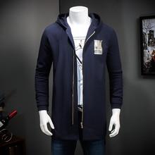 2016 men coat coat clothing hooded jacket fashion men's high quality and long jackets windbreaker plus-size free shipping 7XL