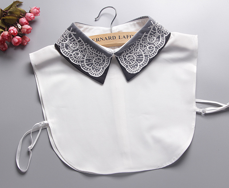 Korean fake collar shirt spring and autumn winter fashion embroidered butterflies fly false collar shirt collar false