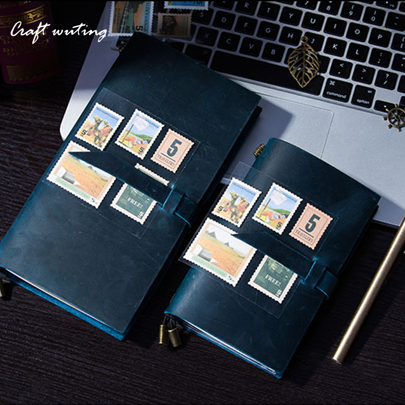 craft100% Genuine Cow LeatherTNotebook multicolor Leather Planner 2017 Note For Midori Diary Vintage Personal Journal Stationery ежедневник midori