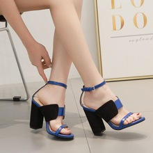 Womens Sandals Summer High-heeled Shoes New Style 2019 Fashion Colourful Banquet Dress Sexy  open-toe Dancing ladys
