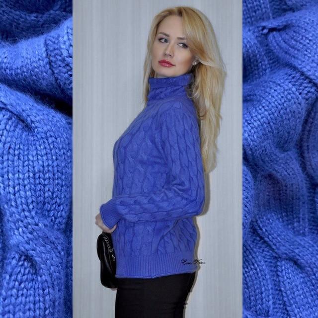 Col haut pull en cachemire femmes épais chandail de mode 2017 automne et d'hiver nouvelle torsion tricoté fond laine chandail