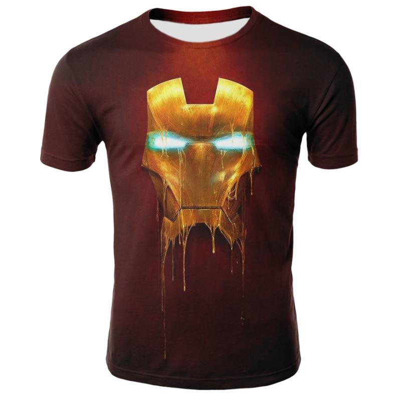 2018 Marvel Avengers 3 Iron Man 3D Print T-shirt Men/Women Superhero T Shirt Fitness Clothing Man's Tops Tee
