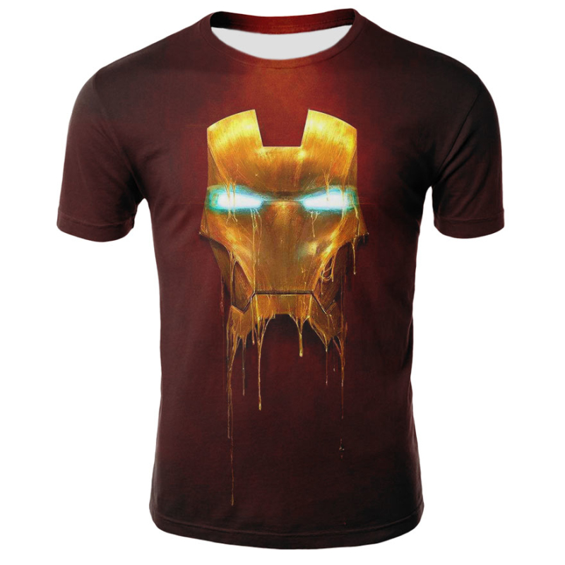 2018 Marvel Avengers 3 Iron Man 3D Print   T  -  shirt   Men/Women Superhero   T     shirt   fitness Clothing Man's Tops Tee
