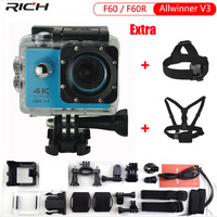 RICH Action Camera Upgraded Version F60 F60R 4k Action Camera Wifi 2 0 Screen 170 Wide