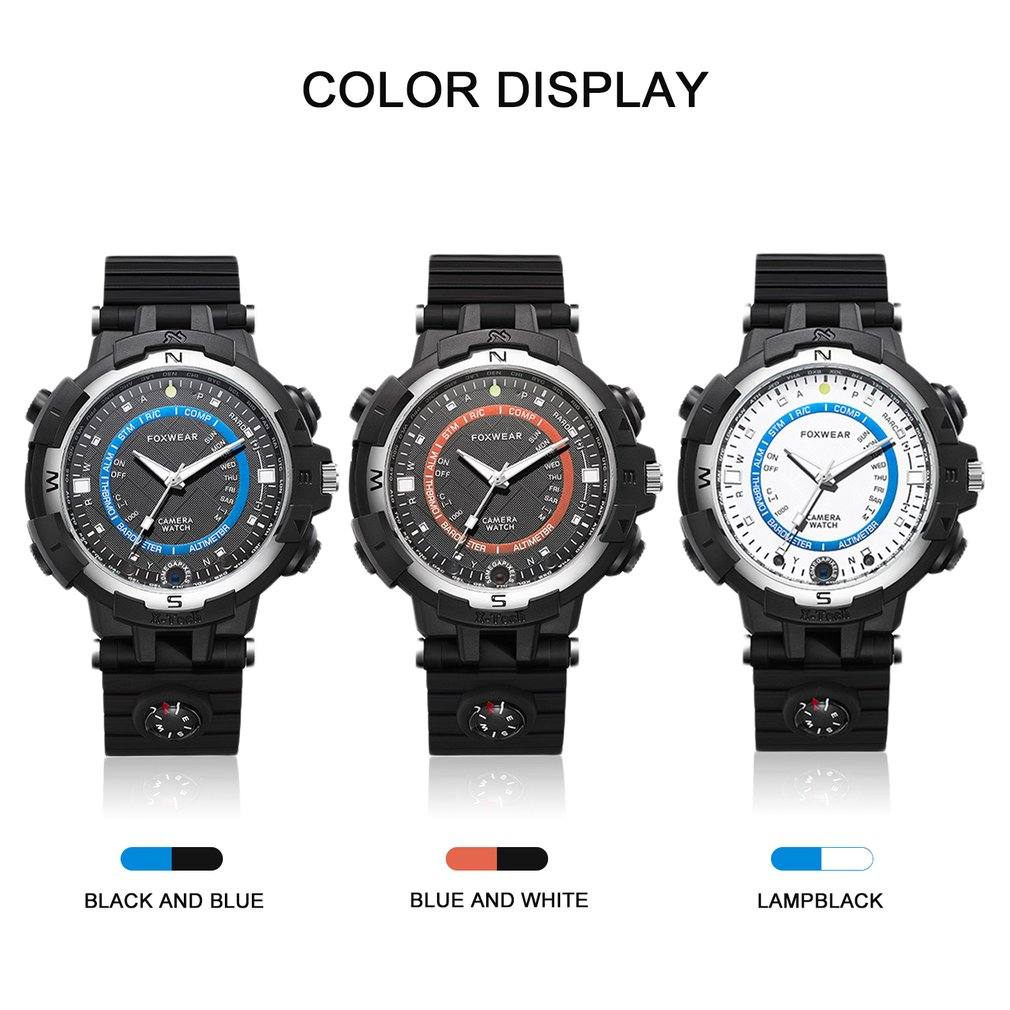 FOX8 16/32GB Capacity Daily Waterproof WiFi Camera Smart Watch Sports Outdoor With Compass Support Remote Control / Voice-RecordFOX8 16/32GB Capacity Daily Waterproof WiFi Camera Smart Watch Sports Outdoor With Compass Support Remote Control / Voice-Record
