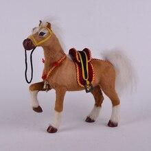 Simulation horse polyethylene furs horse model funny gift about 22cmx21cm