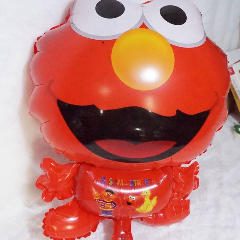 5pc 18 inch Cartoon Sesame Street Elmo shape Foil balloons Helium Inflate birthday party decoration birthday balloon kid's toy