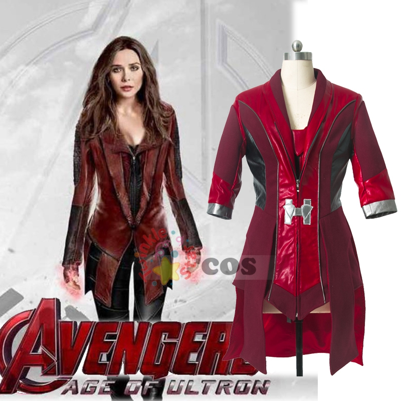 Scarlet Witch cosplay Avengers Age of Ultron Wanda Maximoff Scarlet Witch  Costume for adult women Scarlet - Popular Scarlet Witch Costume-Buy Cheap Scarlet Witch Costume Lots