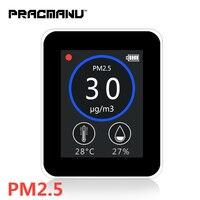 PRACMANU цифровой Мониторинг качества воздуха PM2.5 детектор тестер газоанализатор Температура влажность счетчик диагностический инструмент