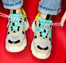 Купить с кэшбэком Spring Casual Shoes Women Ins Hot Dad Sneaker Flat Platform Shoes Zapatos Mujer Sneakers Ladies Trainers Chaussure Femme