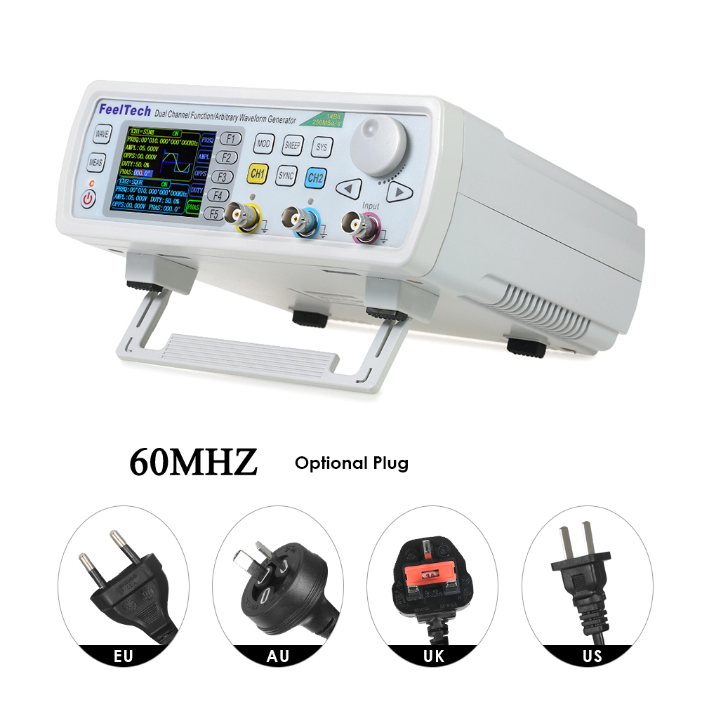 KKmoon FY6600-60M 60MHZ Signal Generator Digital Control Dual-channel DDS Function Signal Generator frequency meter Arbitrary