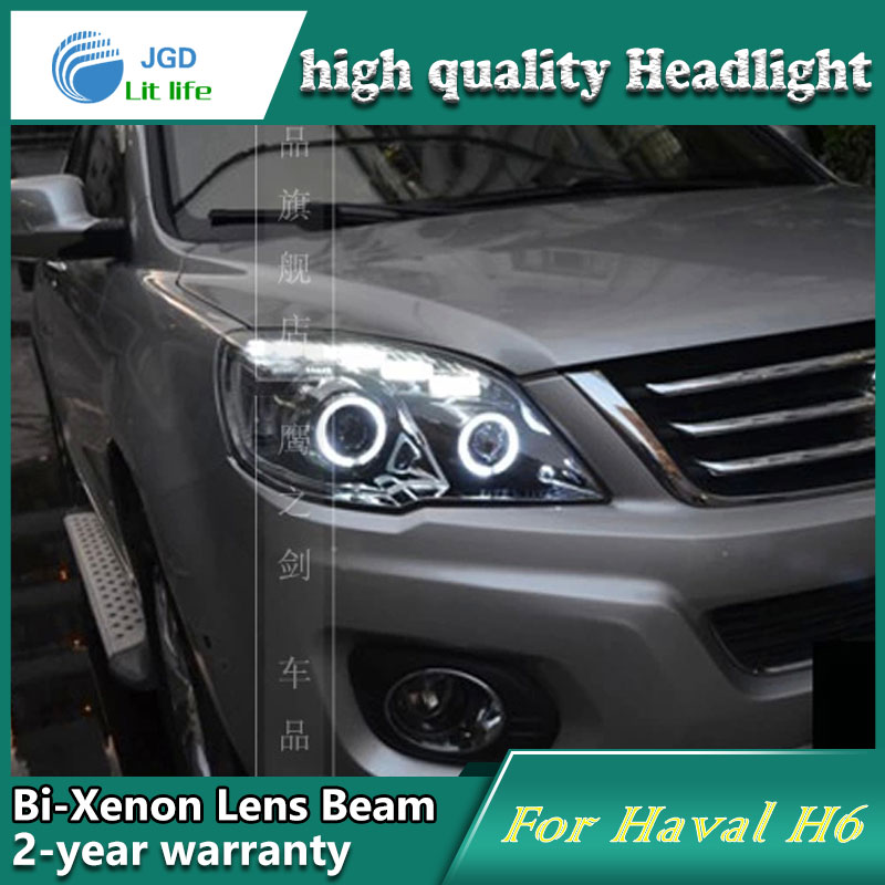Car Styling Head Lamp case for Haval H6 2011-2013 Headlights LED Headlight DRL Lens Double Beam Bi-Xenon HID Accessories car styling head lamp case for subaru outback 2010 2011 2012 headlights led headlight drl lens double beam bi xenon hid