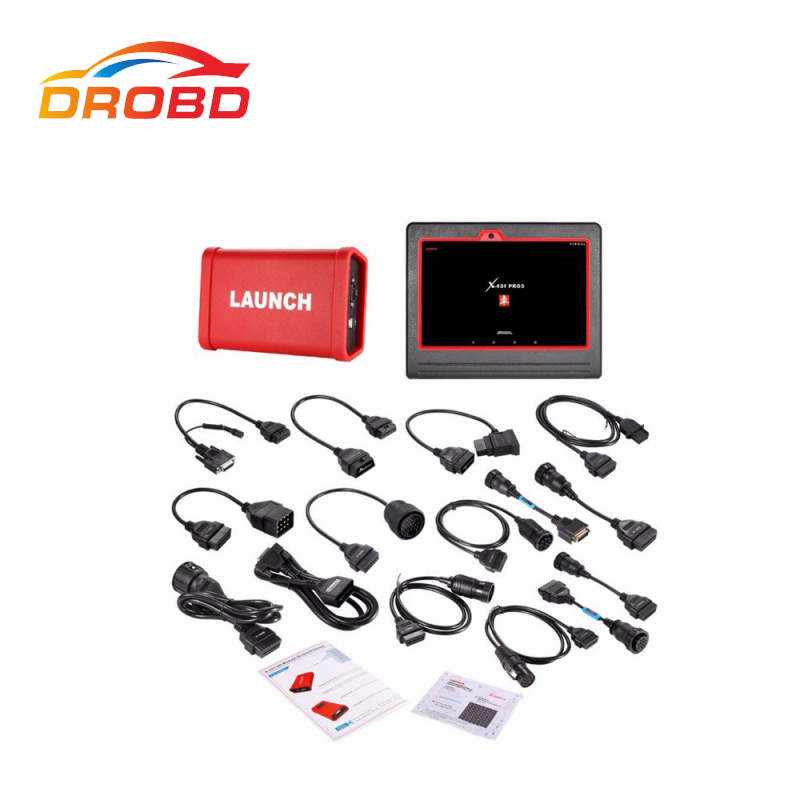 LAUNCH X431 V+ Heavy Duty Truck Diagnostic Professional Truck HD Diagnostic Tool Based On Android Computer&Adatpers Box