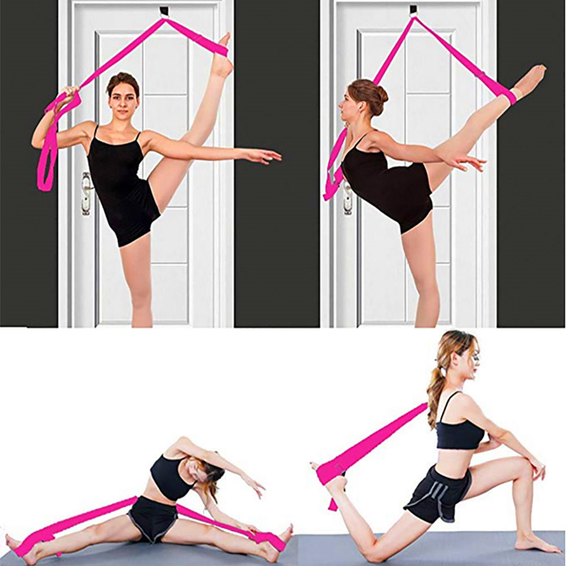 Easy  Install Flexibility Training Strap Yoga Ballet Dance Leg Stretch Traning Belt Adjust Resistance Band Hanging On The Door
