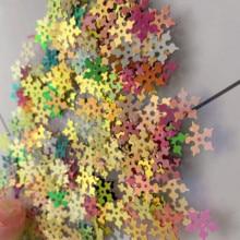 800pcs Loose Sequins Snowflakes shape Pvc Diy Dress Clothing Accessories Sewing Embellishment Craft Wholesale