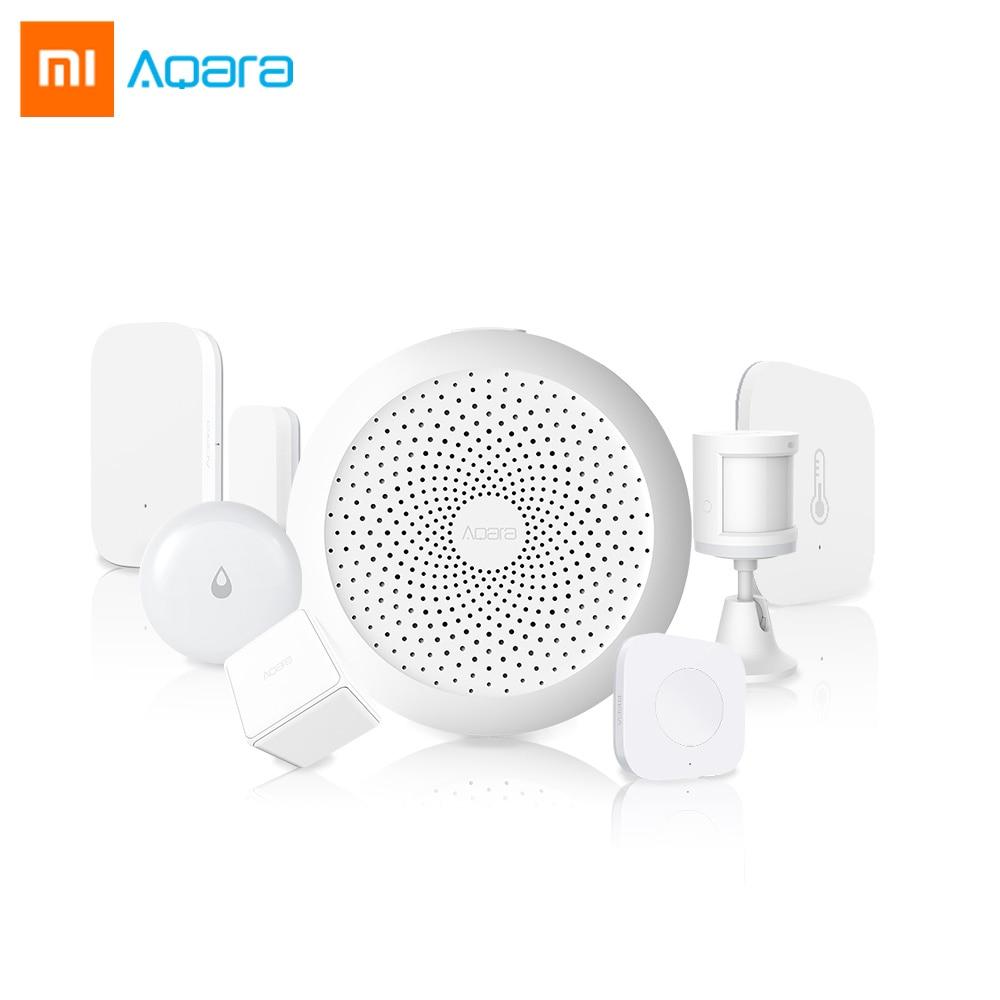 Original Xiaomi Aqara Smart Sensor Kit Hub Gateway Door Window Sensor Human Body Humidity Sensor For Apple Homekit Aqara Home