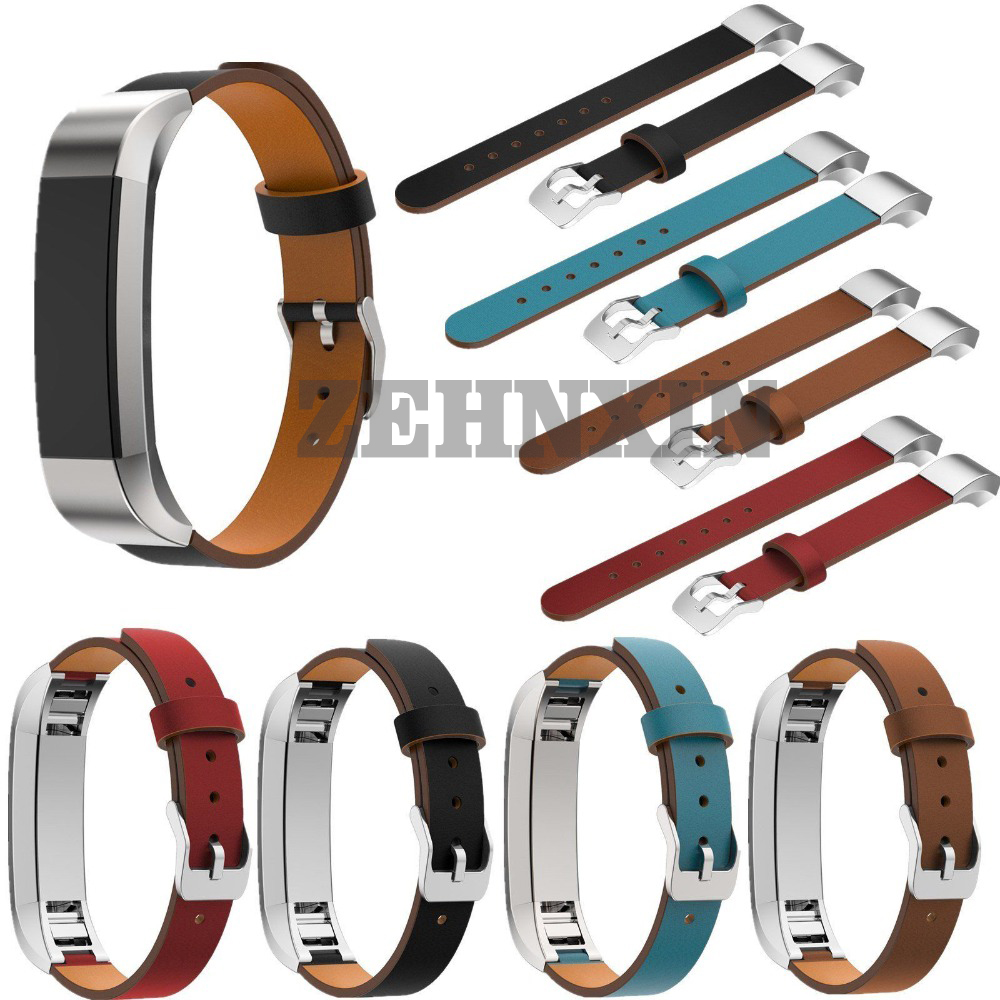 High Quality 4 Colors Leather font b Watch b font Band Replacement Strap For Fitbit Alta