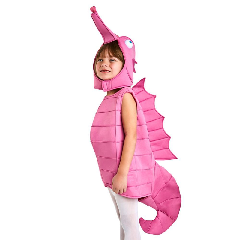 Adorable Toddler Pink Seahorse Costume Quality Foam Constrution Unique And Fun Choice Perfect For Little Baby On Halloween