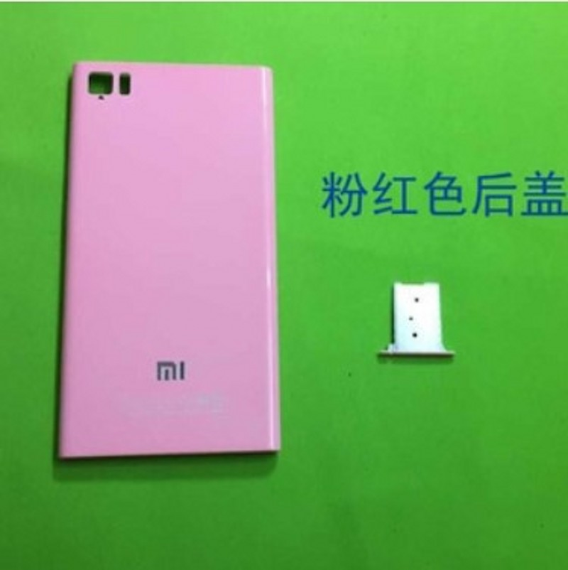 For Xiaomi 3 Mi3 M3 Case TD-CDMA Original Style Mobile Phone Back Shell back  cover Battery Cover +Sim Card Tray e948def9d5